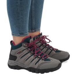 Pantofi de trekking gri pentru femei FS302-33