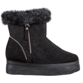 SHELOVET Cizme negre de zăpadă pe platformă negru