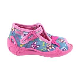 Pantofi pentru copii Befado roz 213P113 albastru multicolor