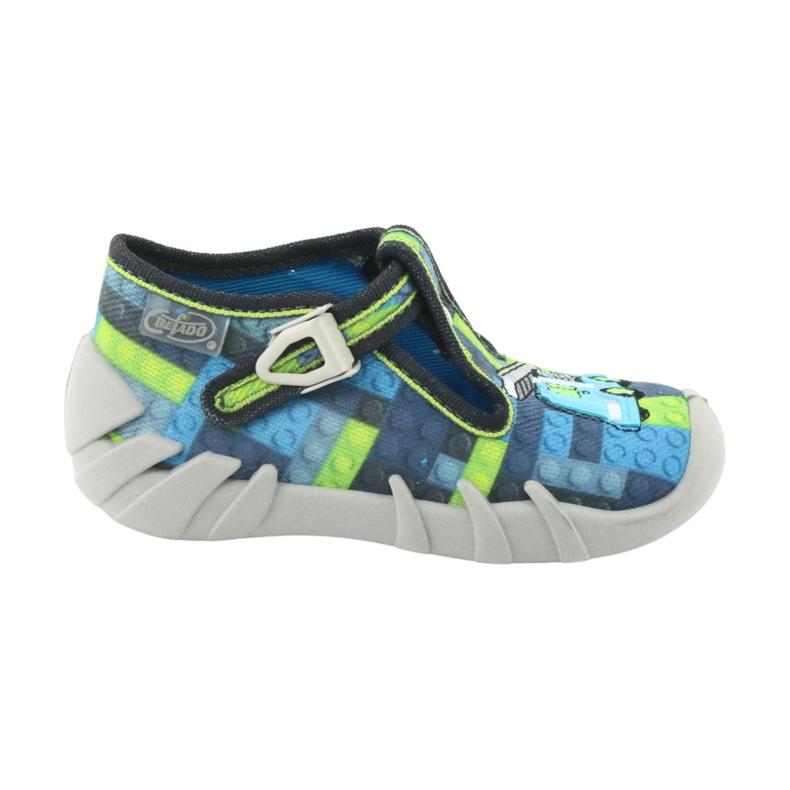 Încălțăminte pentru copii Befado 110P368 albastru gri multicolor verde