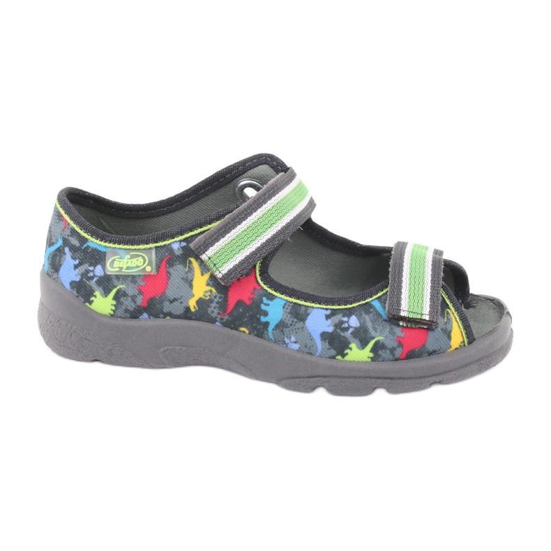 Pantofi pentru copii Befado 969X140 gri multicolor verde