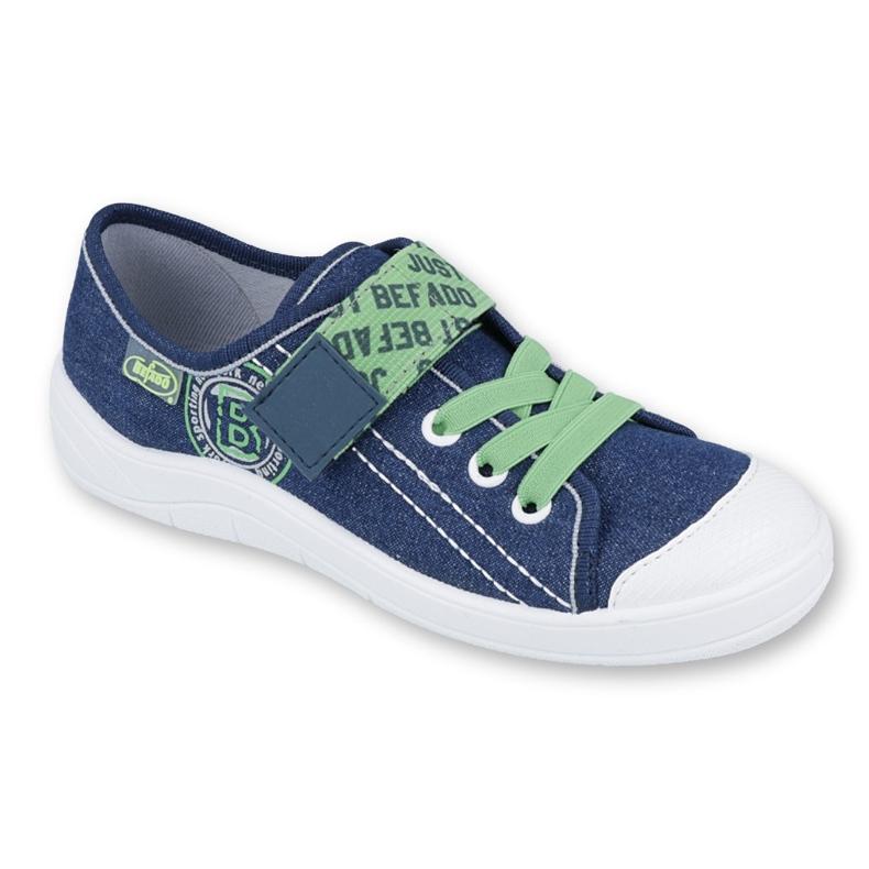Încălțăminte pentru copii Befado 251Y128 albastru marin verde