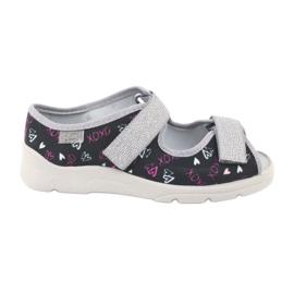 Încălțăminte pentru copii Befado 969Y144 negru roz gri