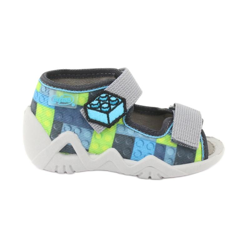 Sandale pentru copii Befado 250P093 albastru gri verde