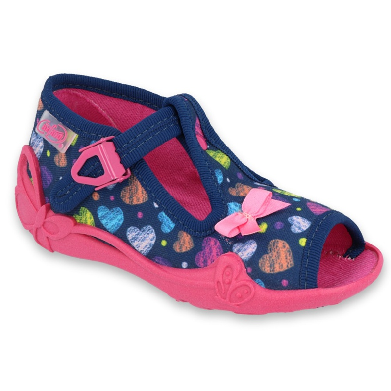 Încălțăminte pentru copii Befado 213P118 albastru marin roz multicolor