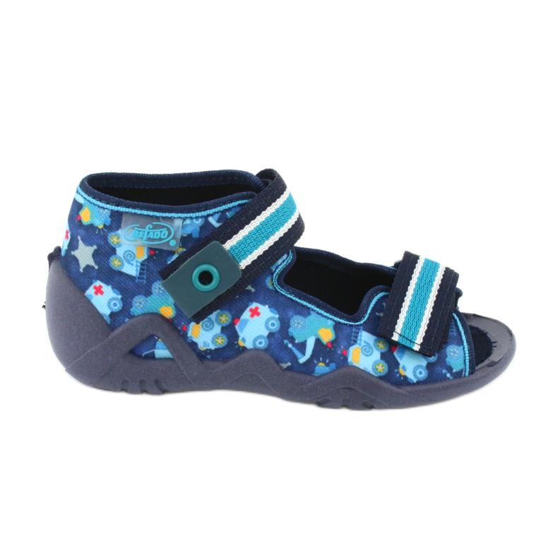 Sandale Befado încălțăminte copii 250P090 alb albastru marin albastru