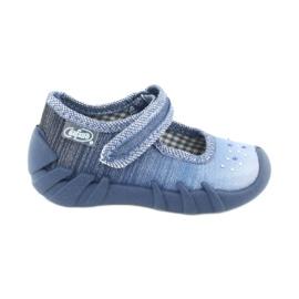Încălțăminte pentru copii Befado cu zirconi 109P186 albastru gri
