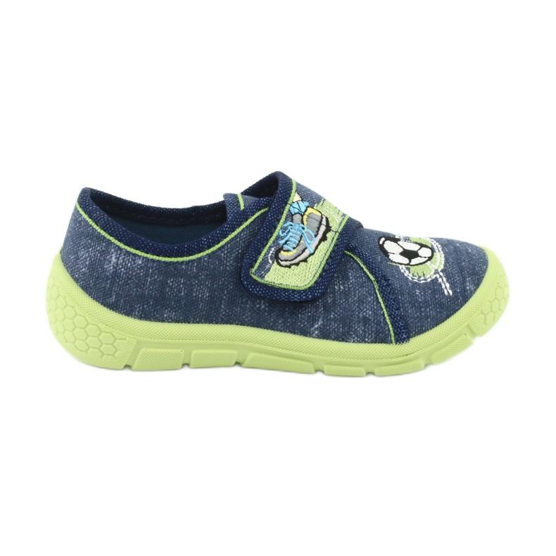 Încălțăminte pentru copii Befado 557P138 albastru marin verde