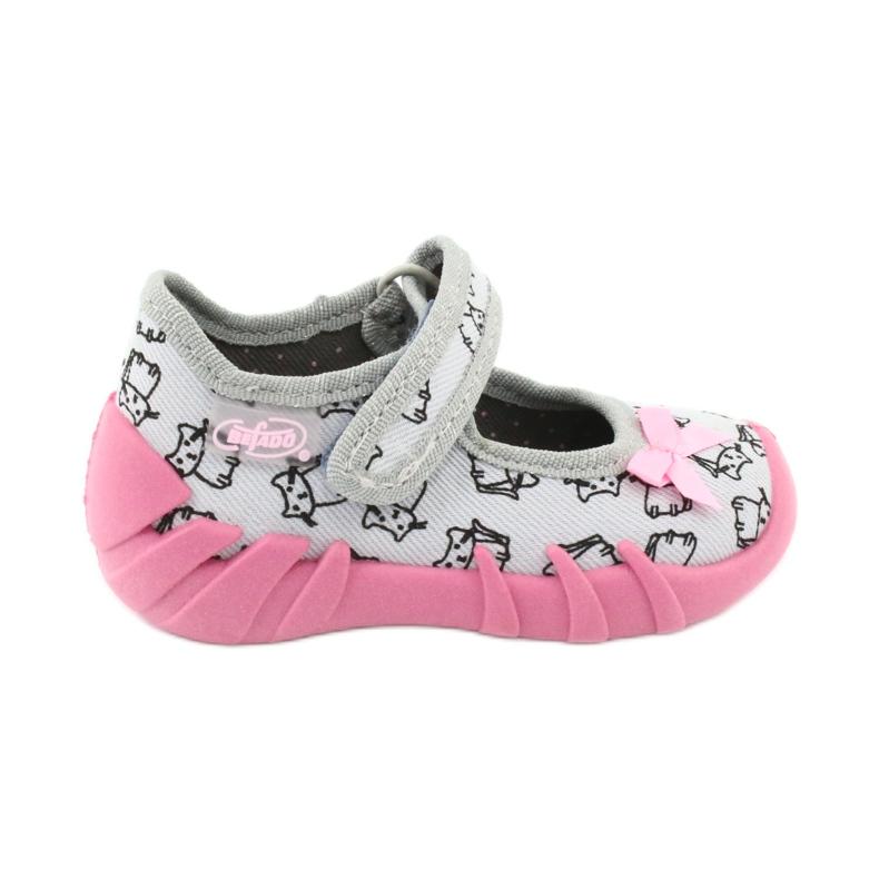 Încălțăminte pentru copii Befado 109P198 roz gri