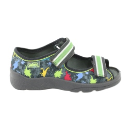 Pantofi pentru copii Befado 969X140 roșu albastru gri verde galben