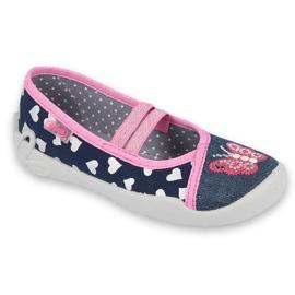 Încălțăminte pentru copii Befado 116X268 albastru marin roz