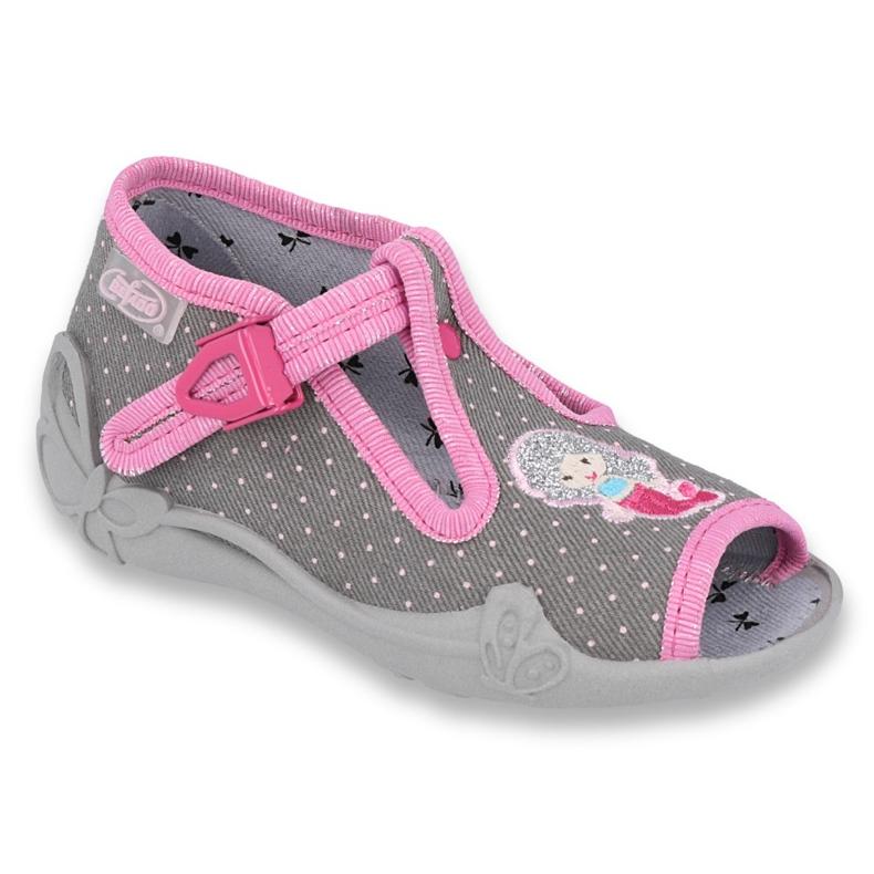 Încălțăminte pentru copii Befado 213P114 roz gri