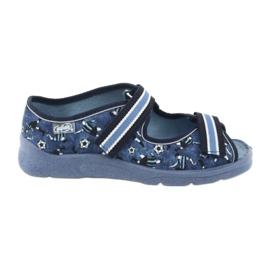 Încălțăminte pentru copii Befado 969Y141 alb albastru marin albastru
