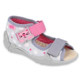 Pantofi pentru copii Befado galbeni 342P009 roz gri
