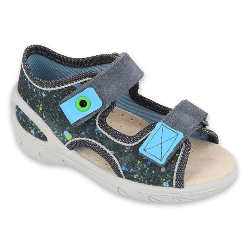Pantofi pentru copii Befado pu 065P127 albastru gri multicolor