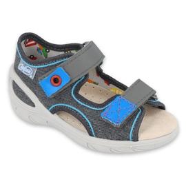 Pantofi pentru copii Befado pu 065X132 albastru gri