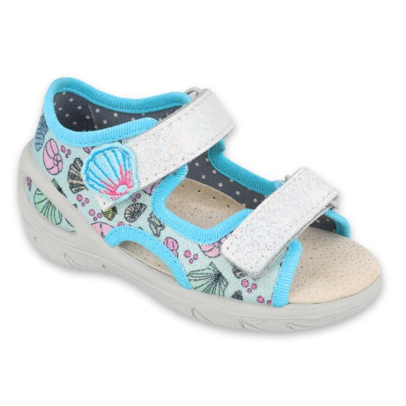 Pantofi pentru copii Befado 065X133 albastru roz gri multicolor