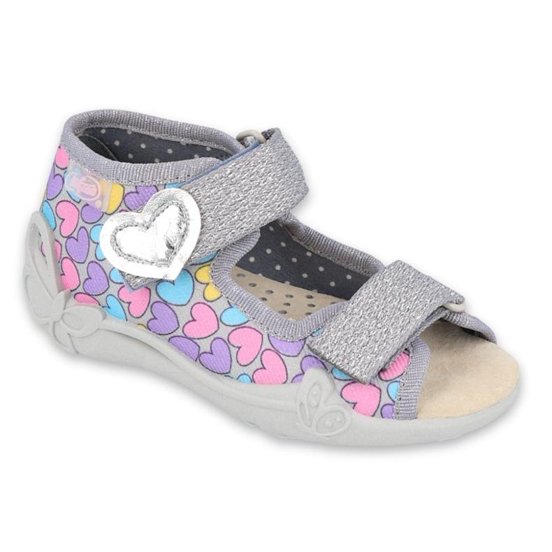 Pantofi pentru copii Befado galbeni 342P013 violet roz gri