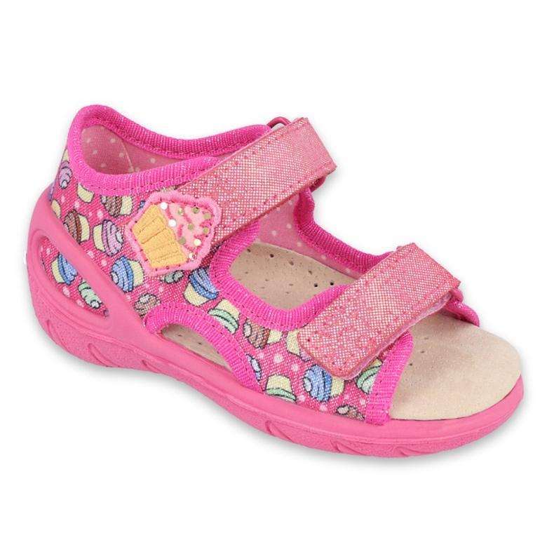 Pantofi pentru copii Befado 065X136 roz multicolor