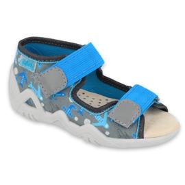 Pantofi pentru copii Befado galbeni 350P007 albastru gri