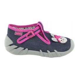 Încălțăminte pentru copii Befado 110P379 albastru marin roz