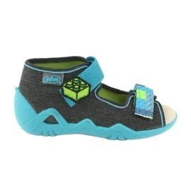 Pantofi pentru copii Befado galbeni 350P006 albastru gri