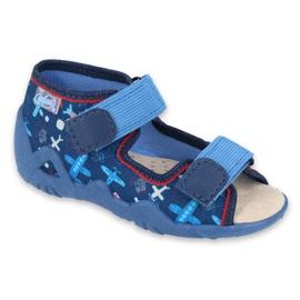 Pantofi pentru copii Befado galbeni 350P008 albastru