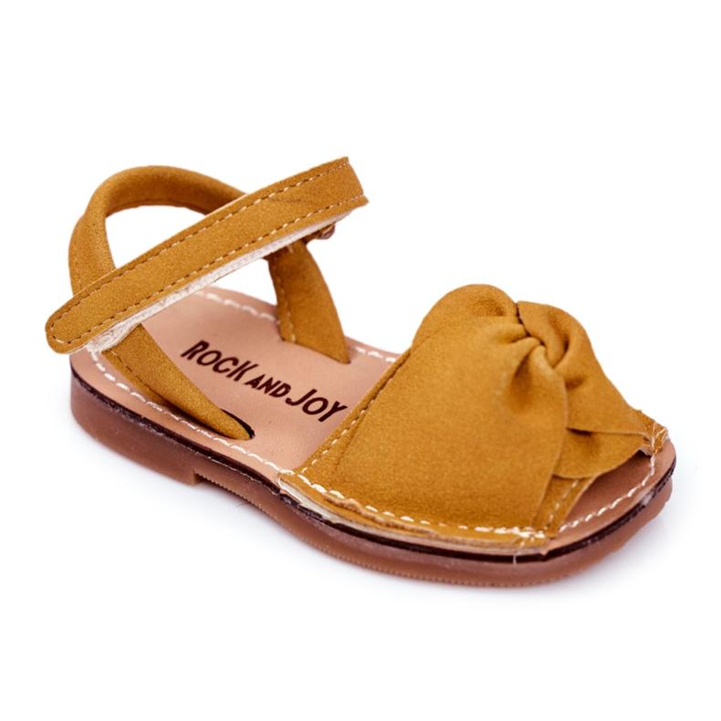 FRROCK Sandale galbene Goofy Velcro pentru copii