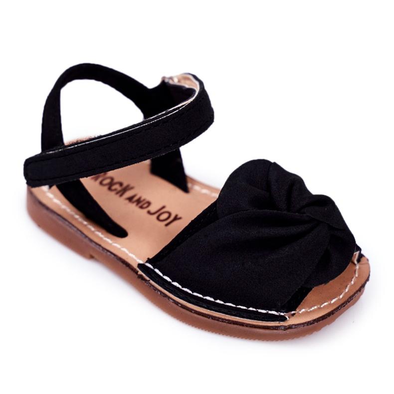 FRROCK Sandale galbene Goofy Velcro pentru copii negru