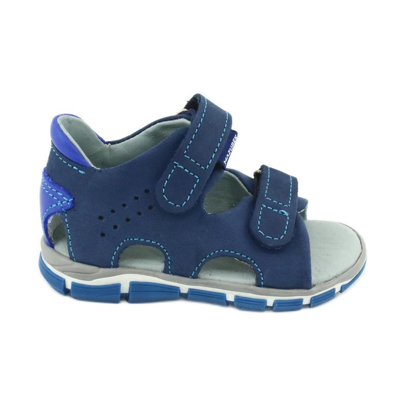 Sandale cu velcro Mazurek 314 bleumarin / albastru albastru marin