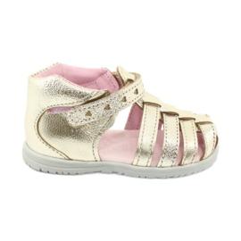 Sandale din piele aurie Mazurek 245 de aur