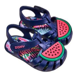 Sandale copii cu velcro pepene verde parfumat ZAXY FF3855013 albastru marin