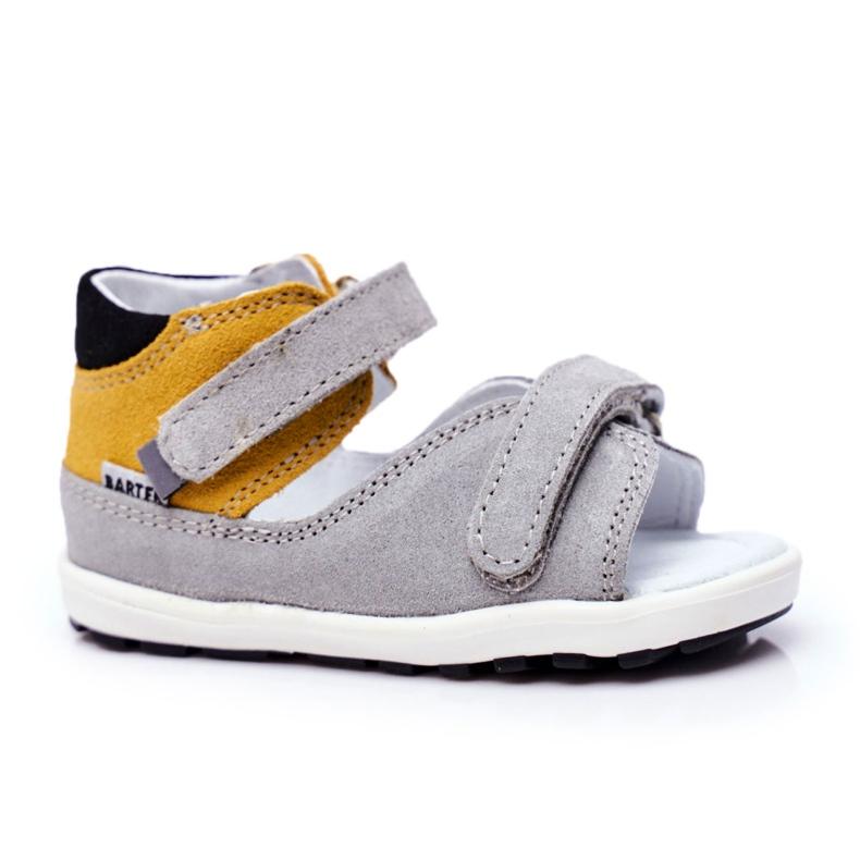 Bartek S.A. Sandale pentru copii Preventive Mini First Steps Bartek W-71266 gri galben
