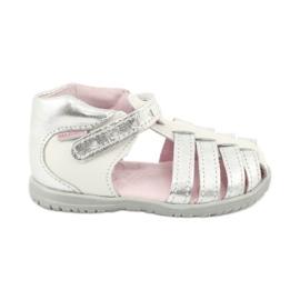 Sandale din piele Mazurek 245 alb gri