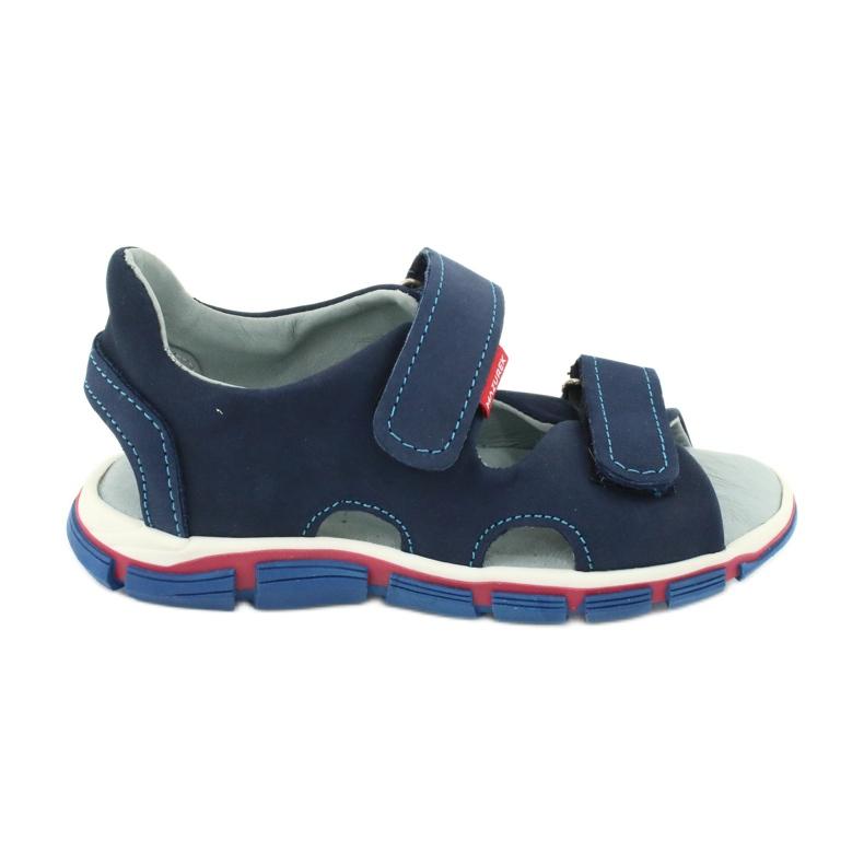 Sandale cu velcro Mazurek 314 bleumarin albastru marin
