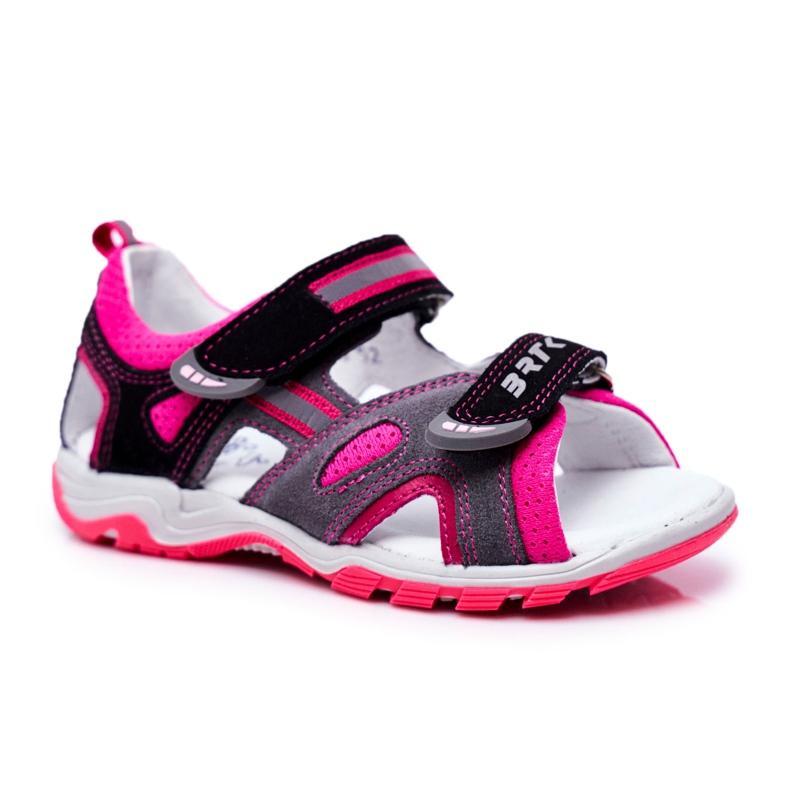 Bartek S.A. Sandale pentru copii pentru fete Profilactic Bartek T-16176-7 / 77G negru roz gri