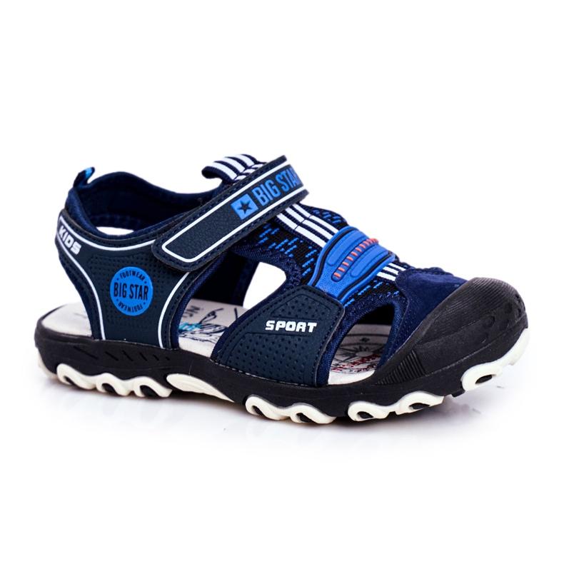 Sandale pentru copii Big Star With Velcro Blue Navy FF374211 albastru marin albastru