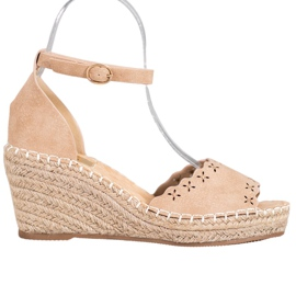 Evento Sandale cu model deschis maro