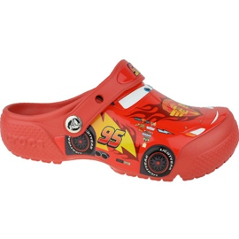 Crocs Fun Lab Cars Clog Jr 204116-8C1 roșu gri