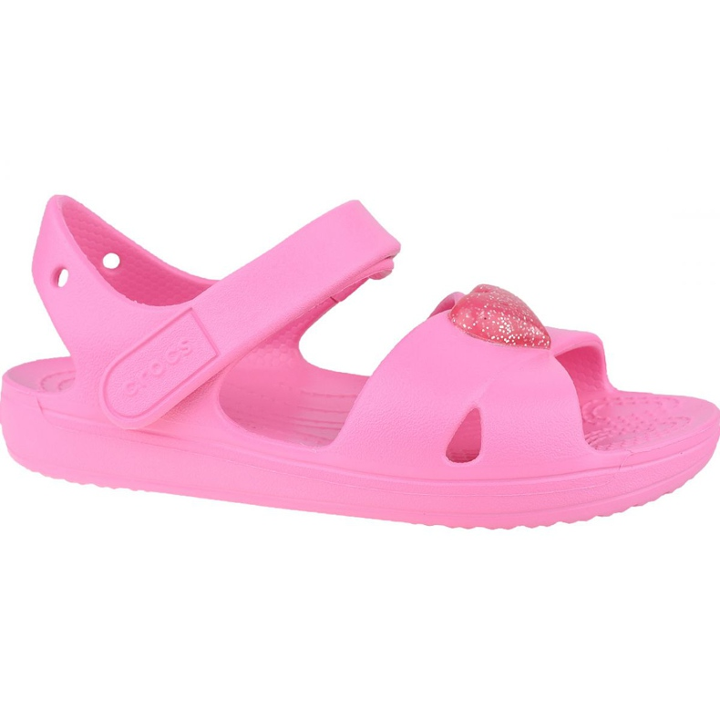 Sandală Crocs Classic Cross-Strap K 206245-669 negru roz