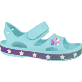 Sandală Crocs Fun Lab Unicorn Charm K 206366-4O9 albastru