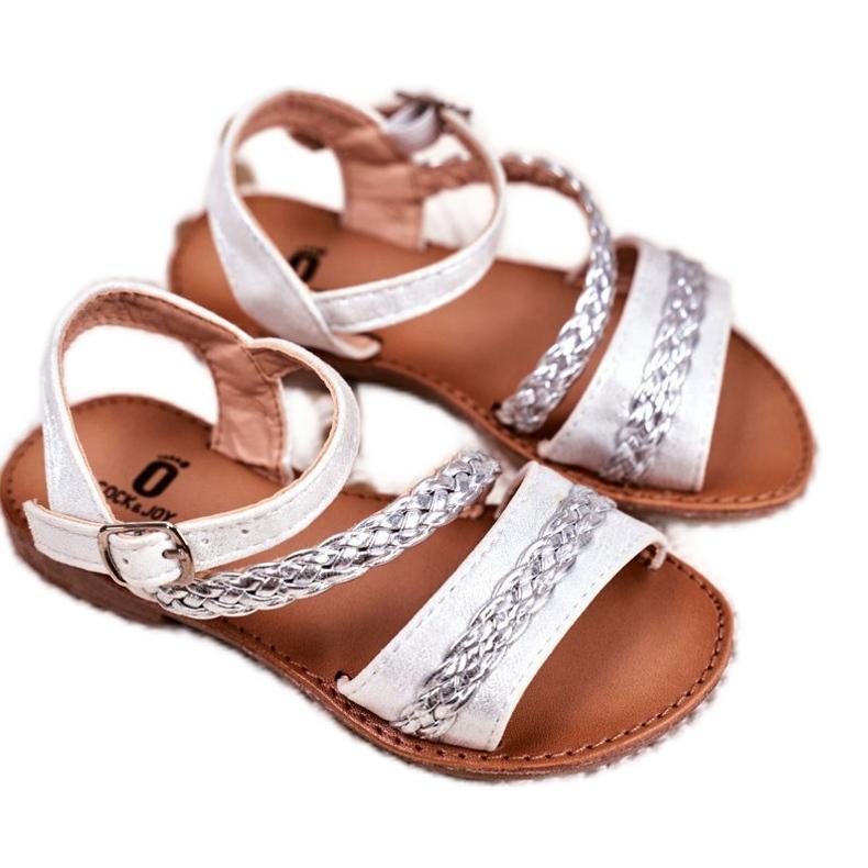 FRROCK Sandale Kremo pentru copii argintii gri