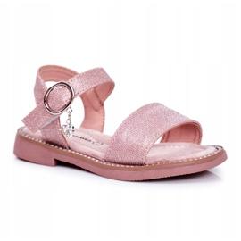 Apawwa Sandale pentru copii cu velcro roz Verden Brocade
