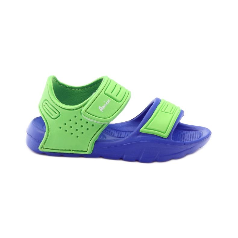 Sandale American Club pentru apă albastru verde