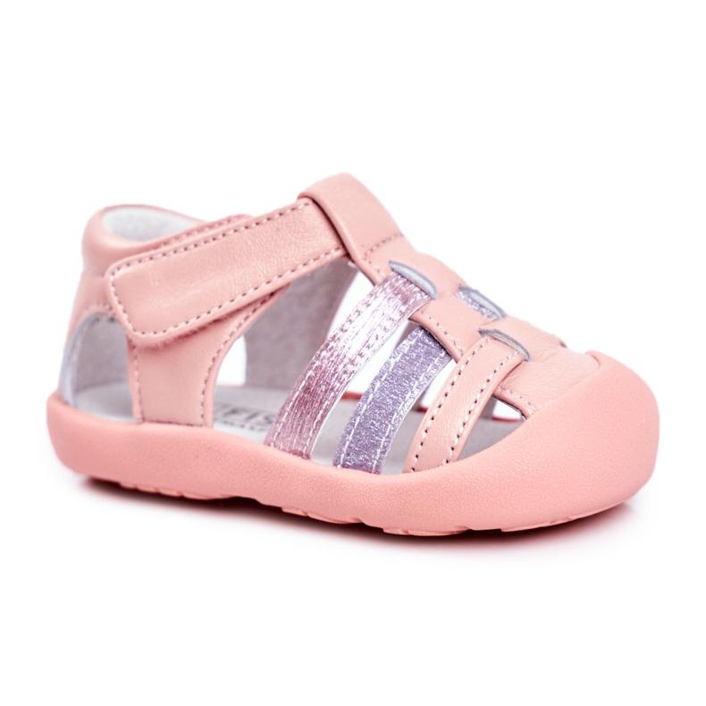Apawwa Sandale pentru copii cu Velcro Glitter Pink Ontario roz