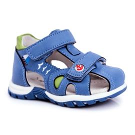 Apawwa Sandale pentru copii cu velcro albastru Nubira