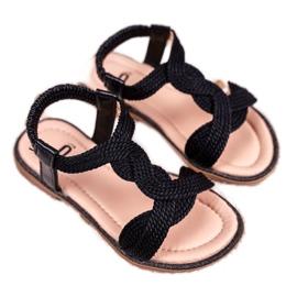 FRROCK Sandale Lamado negre pentru copii negru
