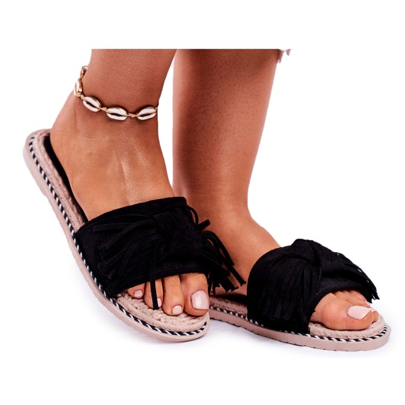 SEA Papuci pentru femei cu arc negru Thailanda
