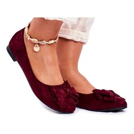 SEA Pantofi de balerină pentru femei Jordos roșu