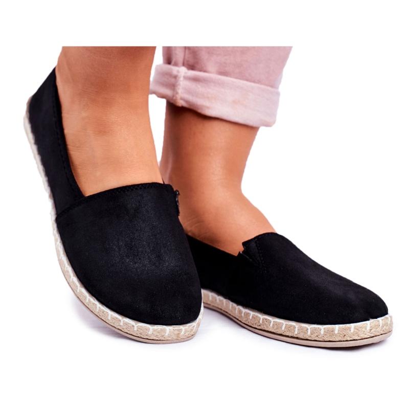 NEWS Espadrilele cu pantofi negri negru